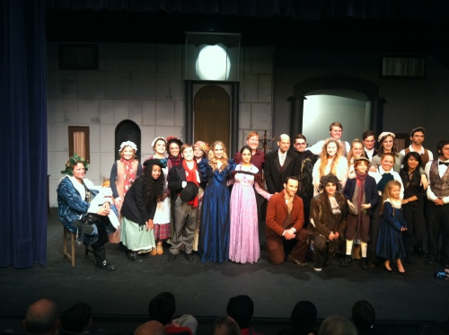 My daughter played in the Scrooge drama put on by the Lighthouse Church in Santa Monica