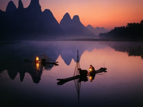 Night-fishing-Li-River-Guilin-China