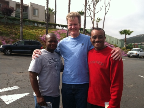 Instant friendship because we share Christ. On outreach in San Diego.