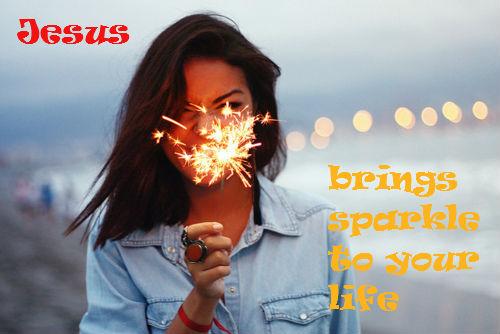 sparkler girl