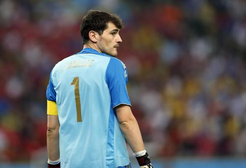 Goalkeeper Iker Casillas made two mistakes to gift two goals. Pic from Yahoo News. I don't own the rights to this, and I'm not making any money on it.