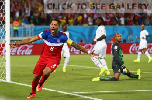 Clint Dempsey after his amazing goal.
