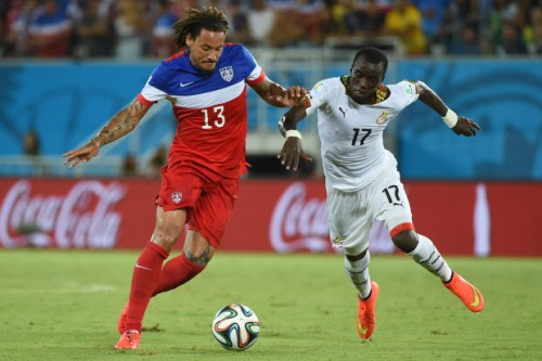 Jermaine Jones performed powerfully to shut down the Ghana attack. I don't own the rights to this photo, and I'm not making any money on it.