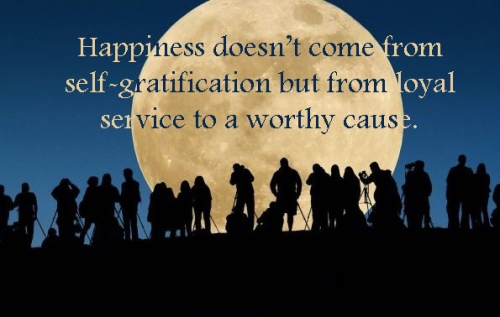 happiness | service | self gratification