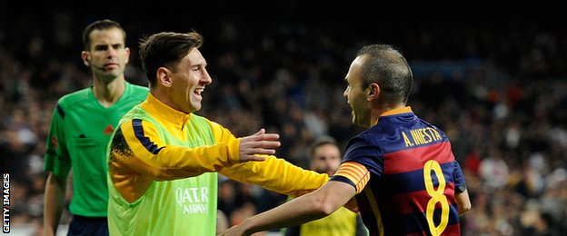 lionell messi and iniesta