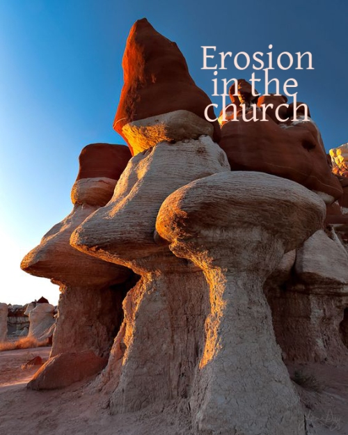 erosion in the church