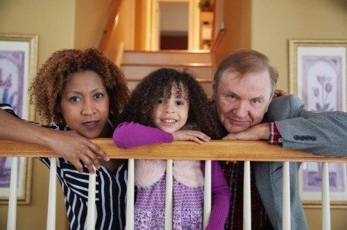 Jack, seine Frau Shawna und seine Tochter Trinity zuhaus