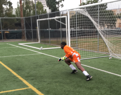los angeles private school soccer goalie