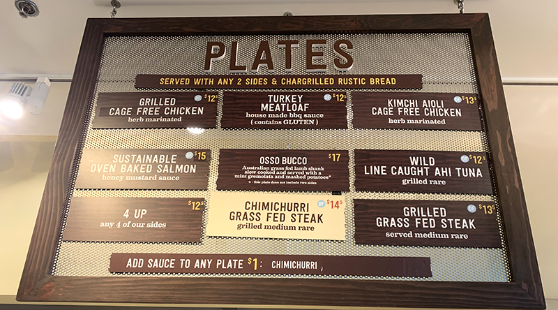 urban plates menu